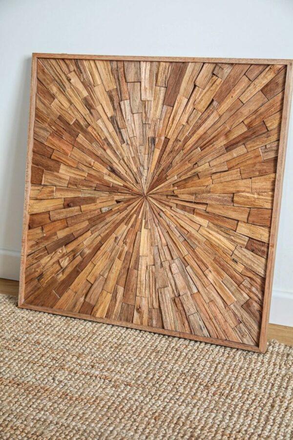 ozdoba z drewna na sciane obraz dekoracja