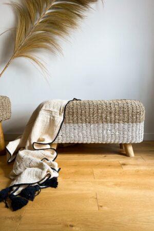 koc z surowej bawełny