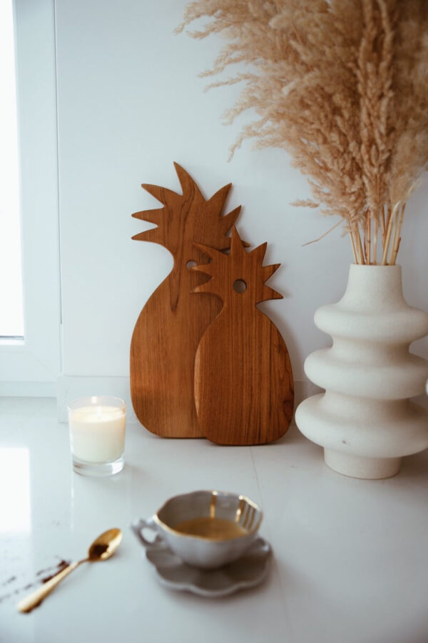 deska do krojenia drewniana ananas