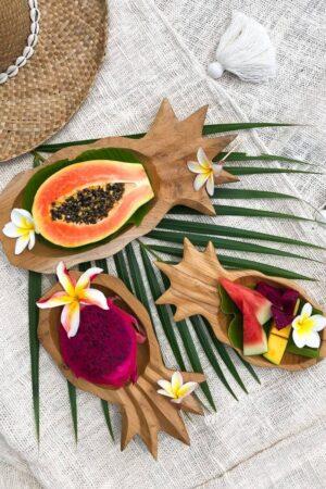 miski bowle drewniane boho ananas