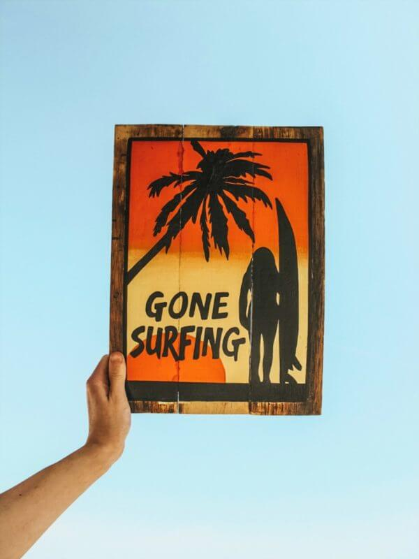 gone surfing prezent dla surfera ozdoba na sciane surf