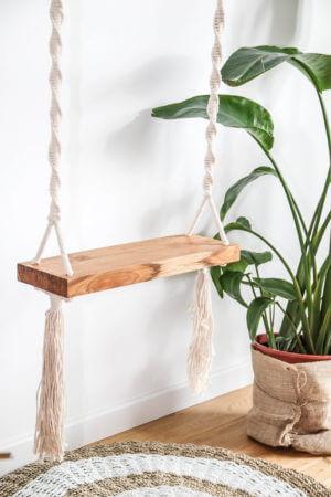 huśtawka drewniana pleciona bali