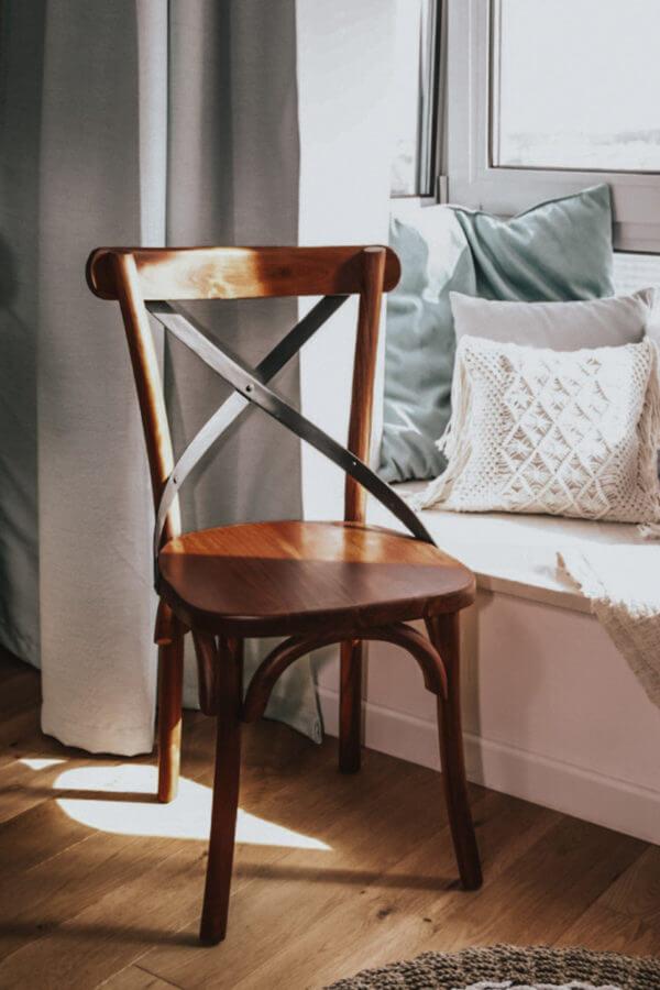 krzeslo minimalistyczne boho drewniane