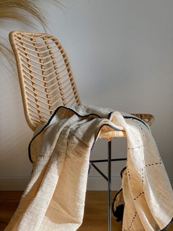 krzeslo rattanowe boho do jadalni