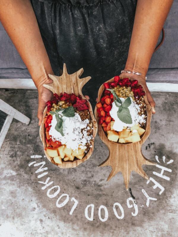 miska ananas drewniana boho kuchnia