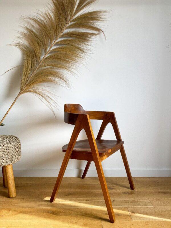 krzeslo drewniane tekowe