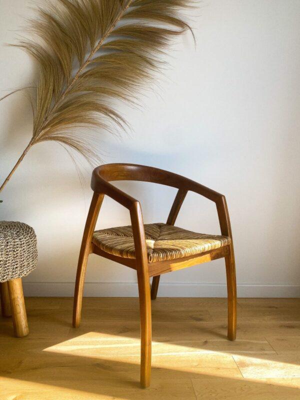 krzeslo z trawy morskiej