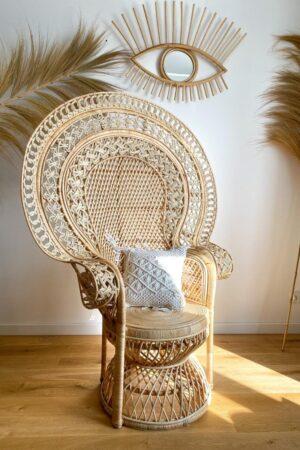 rattanowy fotel paw