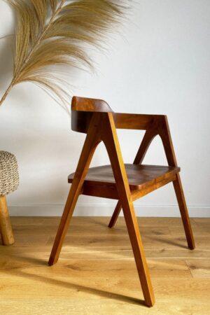 tekowe krzeslo drewniane